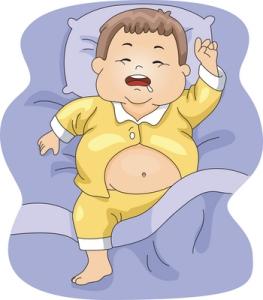 Lihavan äidin lapsi kantaa jo vastasyntyneenä turhan suurta rasvakuormaa, mikä lisää tulevaa lihomis- ja diabetesriskiä ja jättää vastasyntyneen maksan pienikokoiseksi. Kuva: iclipart.com.