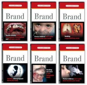 Tupakoinnin vaaroista kertova viesti menee perille sitä paremmin, mitä dramaattisempia kuvia savukepakkauksiin painetaan.