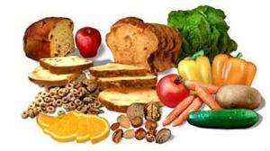 Vihannekset, hedelmät ja täysviljatuotteet ovat parhaita ravintokuidun lähteitä,