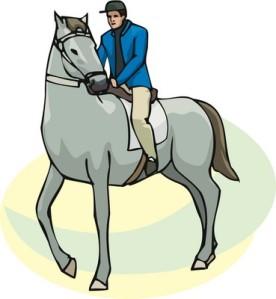 Yleisön edessä tapahtuva suoritus stressaa ratsastajaa enemmän kuin ratsua.
