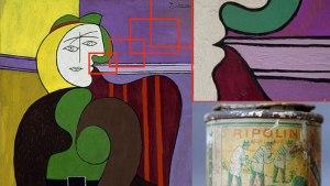 """Pablo Picasson kuuluisa teos """"Red Arm Chair"""" on maalattu yleisellä talomaailla."""