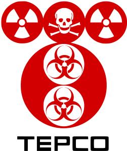 Fukushima Daichii -ydinvoimalan omistajan Tepcon (Tokyo Electric Power Co) logosta tehdyssä muunnelmassa on varoitukset niin säteilystä, myrkyistä kuin biologisista vaaroistakin. Ja kaikki varoitukset tuntuvat olevan aiheellisia.