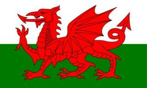 Walesin lippu, The flag of Wales. Photo credit www.comwest.fi