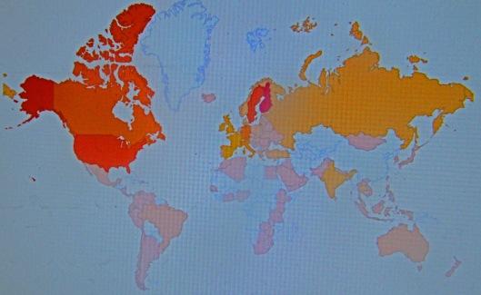 Elokuun 2012 ja elokuun 2013 välillä Tiedebasaarissa on käynyt asiakkaita kaikkiaan 115 eri maasta, ja tapahtumia näillä asiakkailla on ollut yli sata tuhatta.