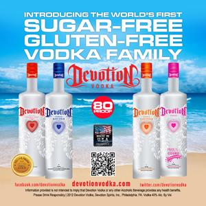 Sokeritonta ja gluteenitonta vodkaa! Näyttävä myyntivaltti, joka kertoo tuotteen olevan ihan sitä samaa nestettä kuin kaikilla kilpailijoillakin.