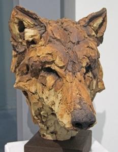Myyttinen susi on arvostettu kohde myös taiteessa. Timber wolf. (By Simon Griffihs, Mall Gallery London. 4.11.2103)