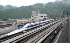 Japanese maglev train. Photo credit www.slate.com