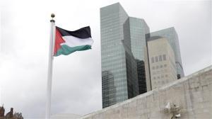 Palestiina ei ole virallisesti YK:n jäsenmaa, mutta lipun nosto maailmanjärjestön päämajan edustalle oli merkittävä kansainvälinen tunnustus itsenäisyydestään taistelevalle kansalle.