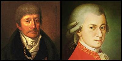 Salieri ja Mozart olivat aikakautensa arvostettuja ja keskenään kilpailevia säveltäjäsuuruuksia. 1800- ja 1900-luvun näytelmät ja Oscarvoittaja-elokuva ovat muokanneet käsityksiä parivaljakon viileistä, jopa vihamielisistä suhteista. Prahan musiikkimuseosta löytynyt sävellys osoittaa kaksikon tehneen myös musiikillista yhteistyötä.