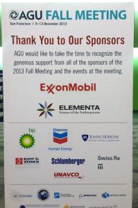 ExxonMobil on ollut American Geophysical Unionin kokousten pääsponsoreita. Kuva HillHeat.com.