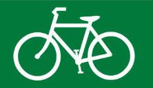 Bicycle lane, sign