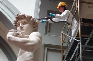 Vuonna 154 valmistunutta Michelangelon David-patsasta on luonnehdittu maailman kauneimmaksi veistokseksi. Kuva: Rosella Lorenzi, Discovery News.