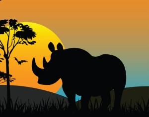 Salametsästys on ajanut sarvikuonot uhanalaiseen asemaan. Kuva: iclipart.com.