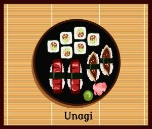 Asiakkaan on mahdotonta tietää, mitä kalalajeja sushiannoksessa tarjotaan. Kuva: iclipart.com.