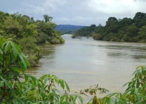 Amazon-virran sivujoki Tapajós-joki säilyy koskemattomana ainakin Mundukuru-kansan kotiseuduilla. Kuva International Rivers/ ens-newswire.com.