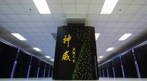 Maailman ylivoimaisesti tehokkain tietokone Sunway TaihuLight on täysin kiinalaista tekoa niin innovaatioiden kuin komponenttien suhteen. Kuva: Li Xiang, Xinhua, via AP.