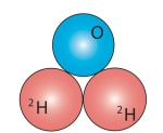 Raskas vesi -molekyyli.