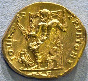 Antiikin ajan kultakolikoista saamme tietoa ylijumala Zeuksen ulkonäöstä aikalaisnäkemyksen mukaan. Kuva: amazingancient.com.