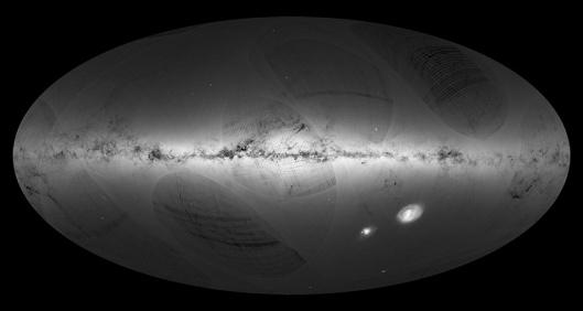 Linnunrata on ilmeisesti suurempi kuin olemme olettaneet, ja ainakin galaksissamme on satoja miljoonia tähtiä enemmän kuin aikaisemmat havainnot ovat osoittaneet. Kuva: ESA, European Space Agency.