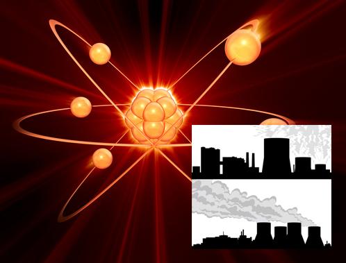 Maailman nykyisten noin 445 ydinvoimalan lisäksi tarvittaisiin tuhat uutta suurvoimalaa ilmastonmuutosta pysäyttämään. Piirroskuvat: iclipart.com.