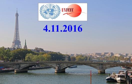 YK:n ilmastosopimus, Parisin sopimus (United Nations Framework Convention on Climate Change) saadaan voimaan jo alle vuodessa sopimuksen allekirjoituksesta. Kuva: Kai Aulio.