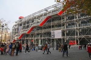 Kulttuurin monitoimikeskus, Centre Pompidou on muun Ranskan tavoin kärsinyt Pariisin epävakaiden olojen aiheuttamasta turistikadosta vuonna 2016. Kuva: Kai Aulio.