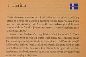 Ár hérans (Jäniksen vuosi). Arto Paasilinnan islannin kielisen teoksen ensi rivit.