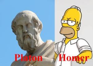Glasgowin yliopisto luottaa suuriin filosofeihin: Platon ja Homer Simpson.