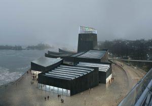 """Guggenheim Helsinki -taidemuseon suunnittelukilpailun voitti japanilaisen Moreau Kusunoki Architectes -toimiston """"Air in the City"""". Kuva: designguggenheimhelsinki.org."""