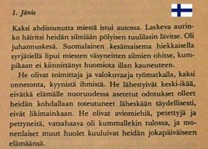 Jäniksen vuosi. Arto Paasilinnan teoksen ensimmäiset rivit.