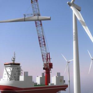 1990-luvulla toimintansa aloittaneet tuulivoimalat alkavat olla tekniikaltaan vanhentuneita ja teholtaan liian pieniä nykyajan vaatimuksiin. Mereisen tuulivoimalan purku. Kuva: Vattenfall.