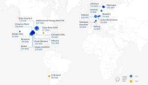 Googlen sähköntoimittajat eri maissa. Kuva: Google.
