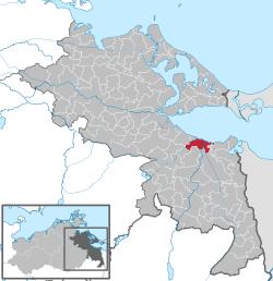 Uekermünden sijainti. Kuva: wikimedia.org.