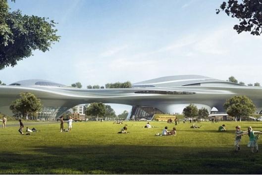 Futuristinen Lucas -museo on kaksi kertaa Kiasman kokoinen. Kuva: The Art Newspaper.
