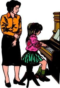 Pianotunneilla soitetut kappaleet voivat kuulua tekijänoikeuskorvausten piiriin – ainakin Japanissa. Kuva: iclipart.com.